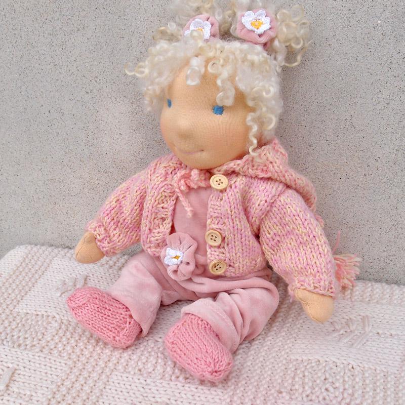 lianna - Waldorf doll baby 14 in doll