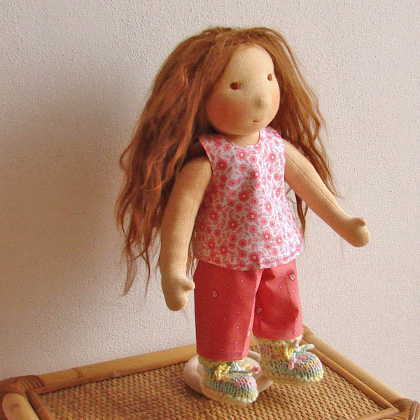 waldorf doll Ludmila long stylable hair
