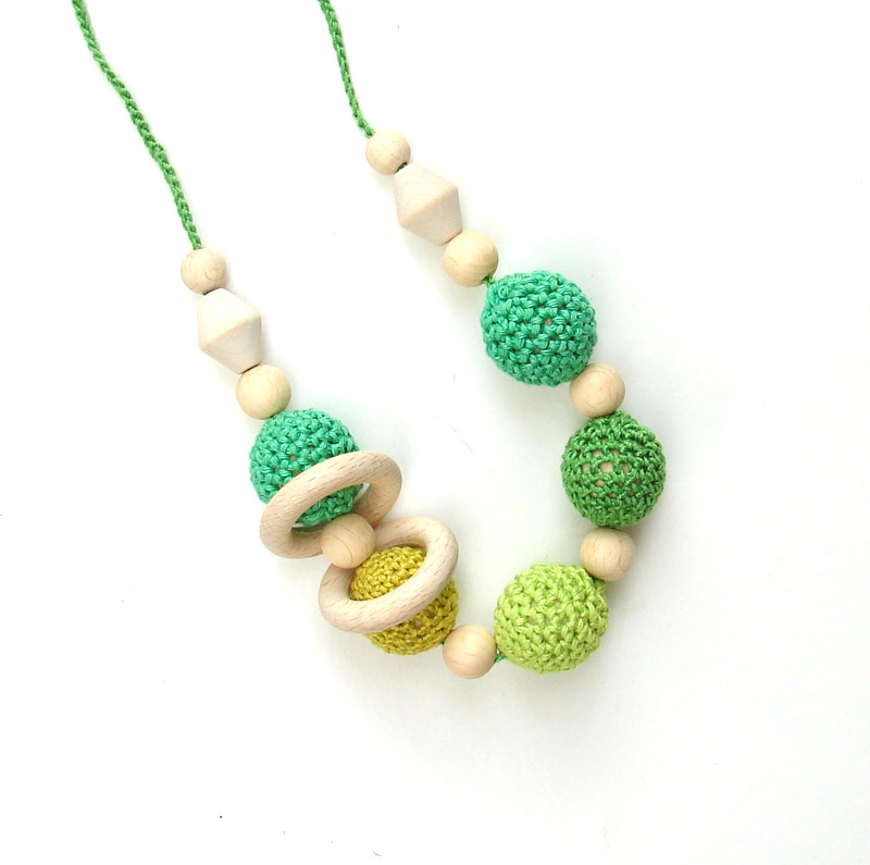 Nursing necklace teething toy for baby