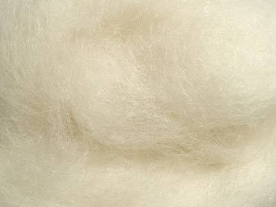 Carded organic Wool for doll making, 300 gr